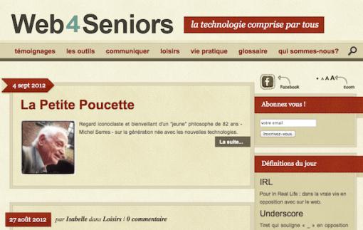 Web 4 Seniors : création d'un blog pour Bazile Telecom