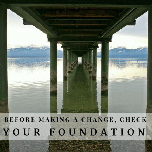 Check your foundation