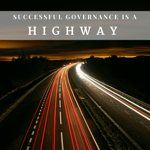 Governance is a highway