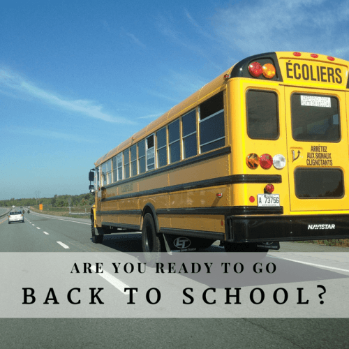 Are you ready to go back to school
