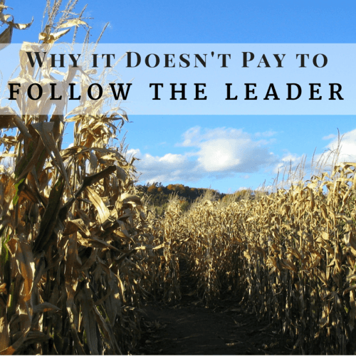 Why it doesn't pay to follow the leader
