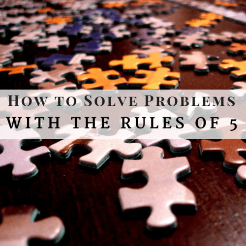 How to solve problems with the rules of 5
