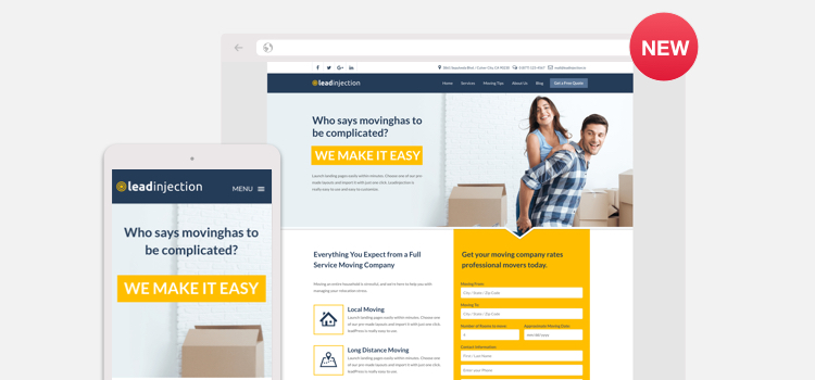 Templates Archives - Leadinjection Landing Page Theme