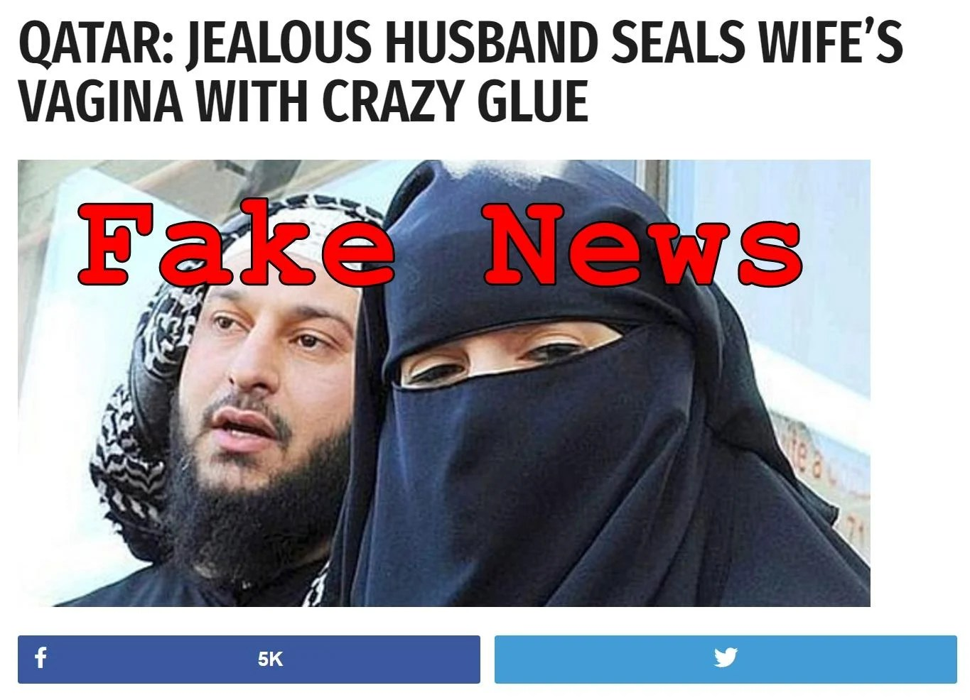 Crazy Glue Fake News Jealous Husband In Qatar Did Not Seal Wife S Vagina
