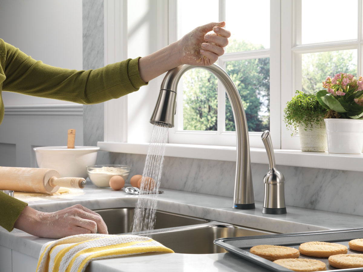 modern kitchen sinks with single handle high arc pulldown kitchen faucet finish