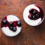 Vanilla Pudding and Cherry Compote