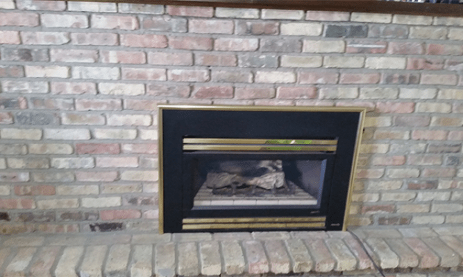 Whitewash Brick Fireplace Whitewashing A Brick Fireplace - Leah And Joe: Home Diy