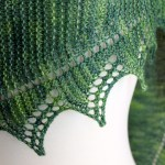 Simple Spring Shawl closeup