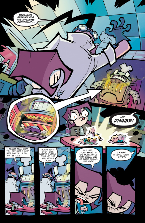 I Eat Kids Wallpaper Gravity Falls Invader Zim Variant Covers And Content Preview Geekynews