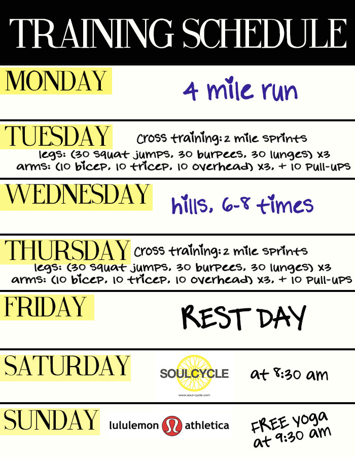 Fine Fitness Training Schedule Template Pictures - Resume Ideas