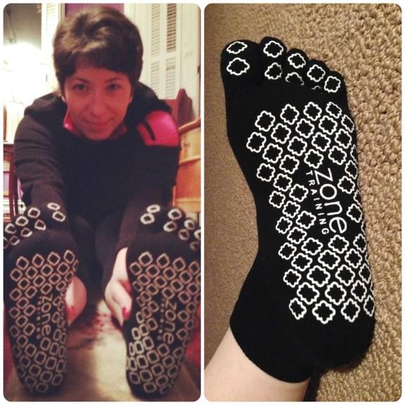 Got me some yoga socks :)