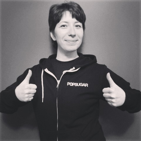 a sweat hoodie with Popsugar logo!