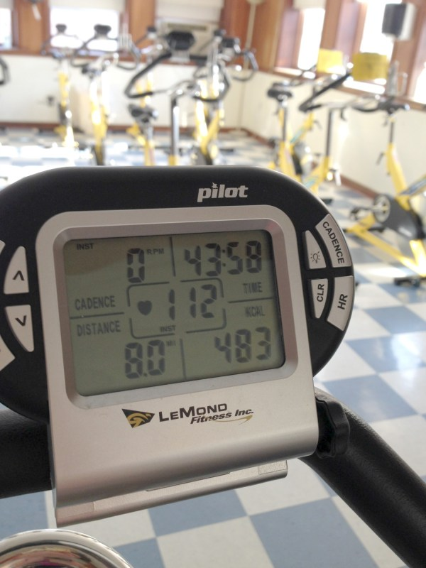 New Indoor Cycling Experience and Last Week's Exercise Recap
