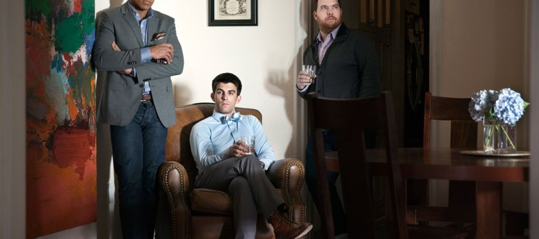 Mizzen+Main co-founders (from left to right) Web Smith and Kevin Lavelle, and former creative director Steven DeWitt | Photo credit: D Magazine