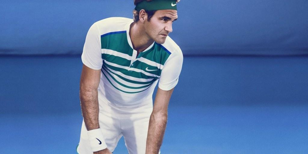 Federer swathed head to toe in NikeCourt freshness | Photo credit: Nike