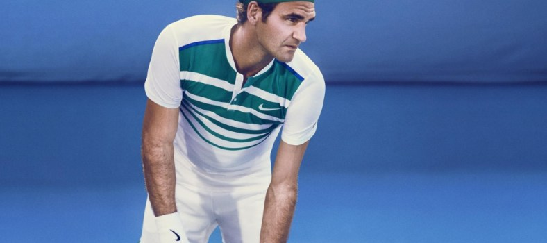 Federer swathed head to toe in NikeCourt freshness | Photo credit: Nike