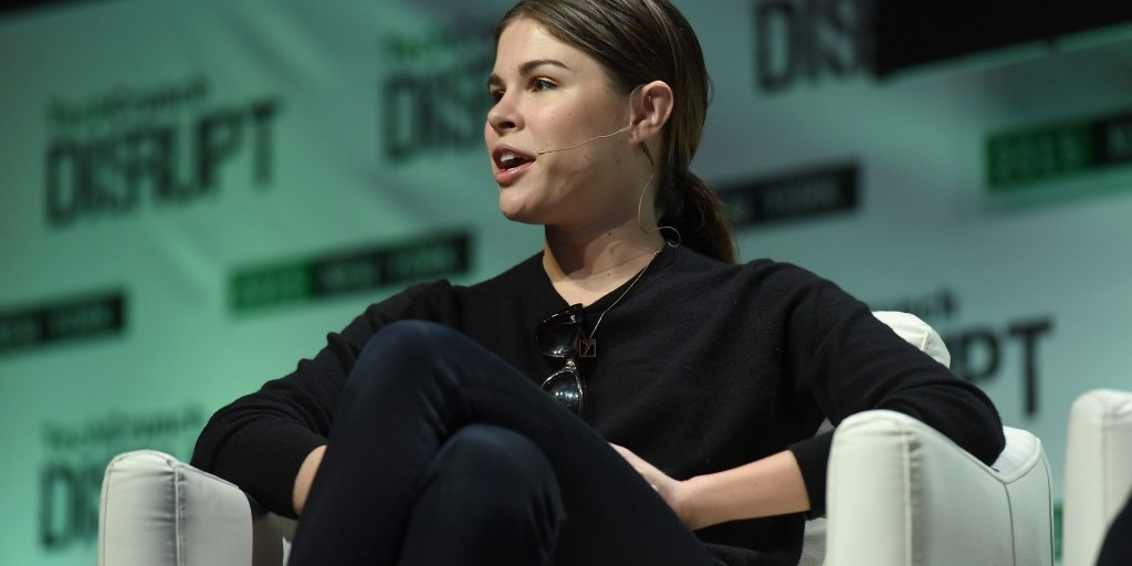 Emily Weiss speaks onstage during TechCrunch Disrupt NY 2015 | Noam Galai (Getty Images for TechCrunch)