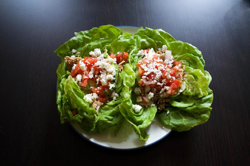 Pork Carnitas Lettuce Tacos