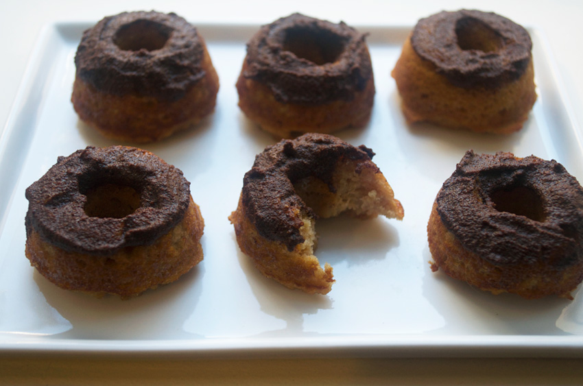 Apple Cider Doughnuts with Maple Cinnamon Glaze (wheat free)