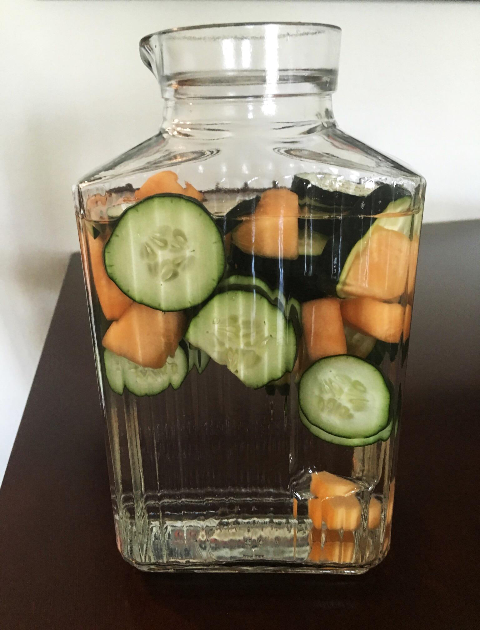 Cucumber melon water