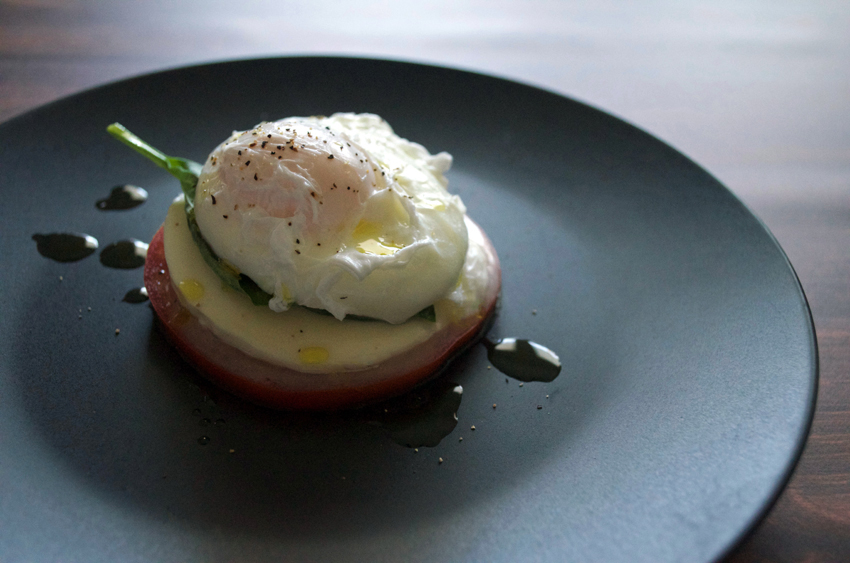 Caprese Poached Eggs