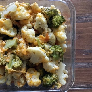 Cheesy Broccoli and Cauliflower Bake