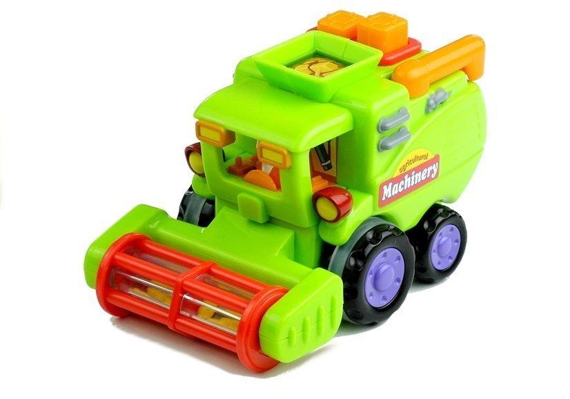 Cartoon Cars - Combine-Harvester, Trash Truck, Mixer Truck Toys