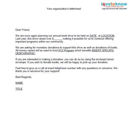 Fundraising Made Effortless with 13 Donation Request Letters - donation letters
