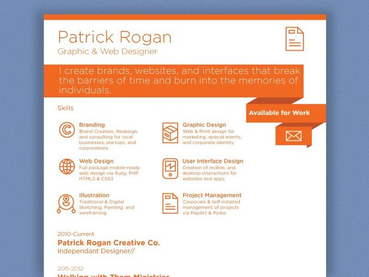 50 Inspiring Resume Designs And What You Can Learn From Them u2013 Learn - resume website design