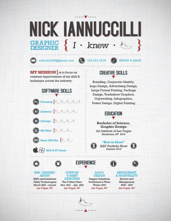 50 Inspiring Resume Designs And What You Can Learn From Them u2013 Learn - resume graphic designer