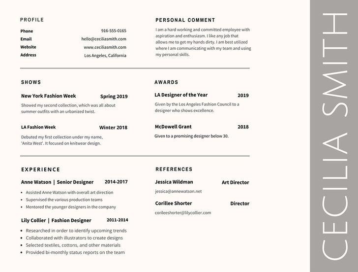 resume best font