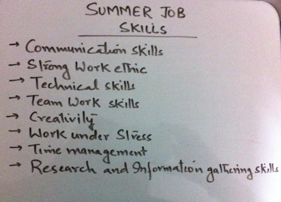 Top summer job skills on your resume Guests - job skills on resume