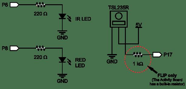 parallax push button switch circuit