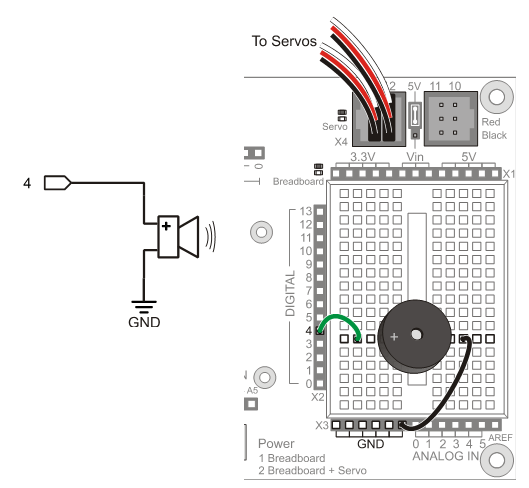 building a circuit on breadboard