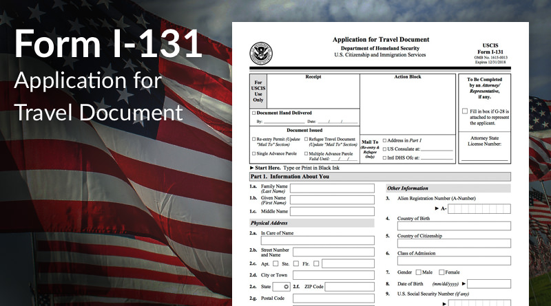Form I-131, Application for Travel Everything You Need To Know - citizenship application form
