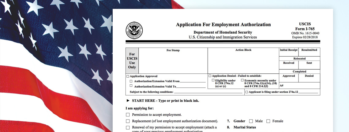 Form I-765 Step by Step Guide Employment Authorization - sample employment authorization form