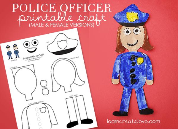 Community Helper Series Free Policeman Printables And