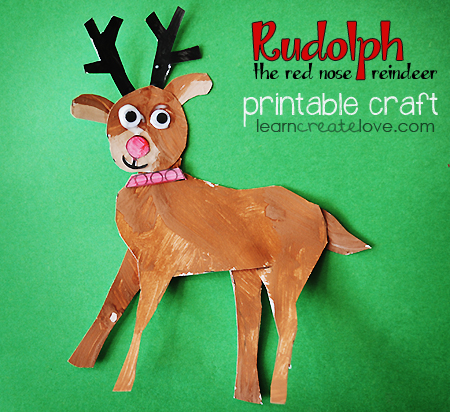 Rudolph the Red Nose Reindeer Craft LearnCreateLove