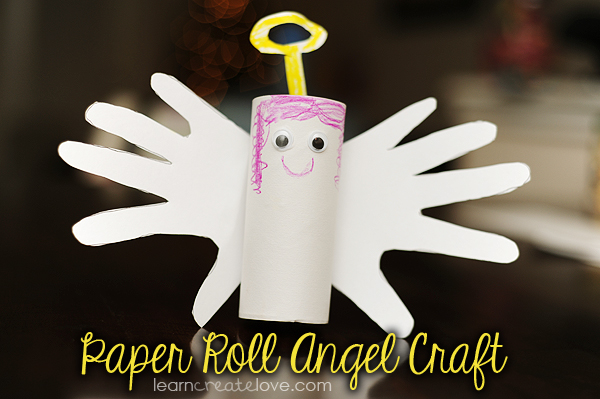 Handprint Paper Roll Angel Craft