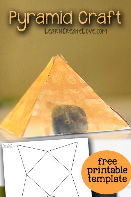 Pyramid Craft Printable Template LearnCreateLove
