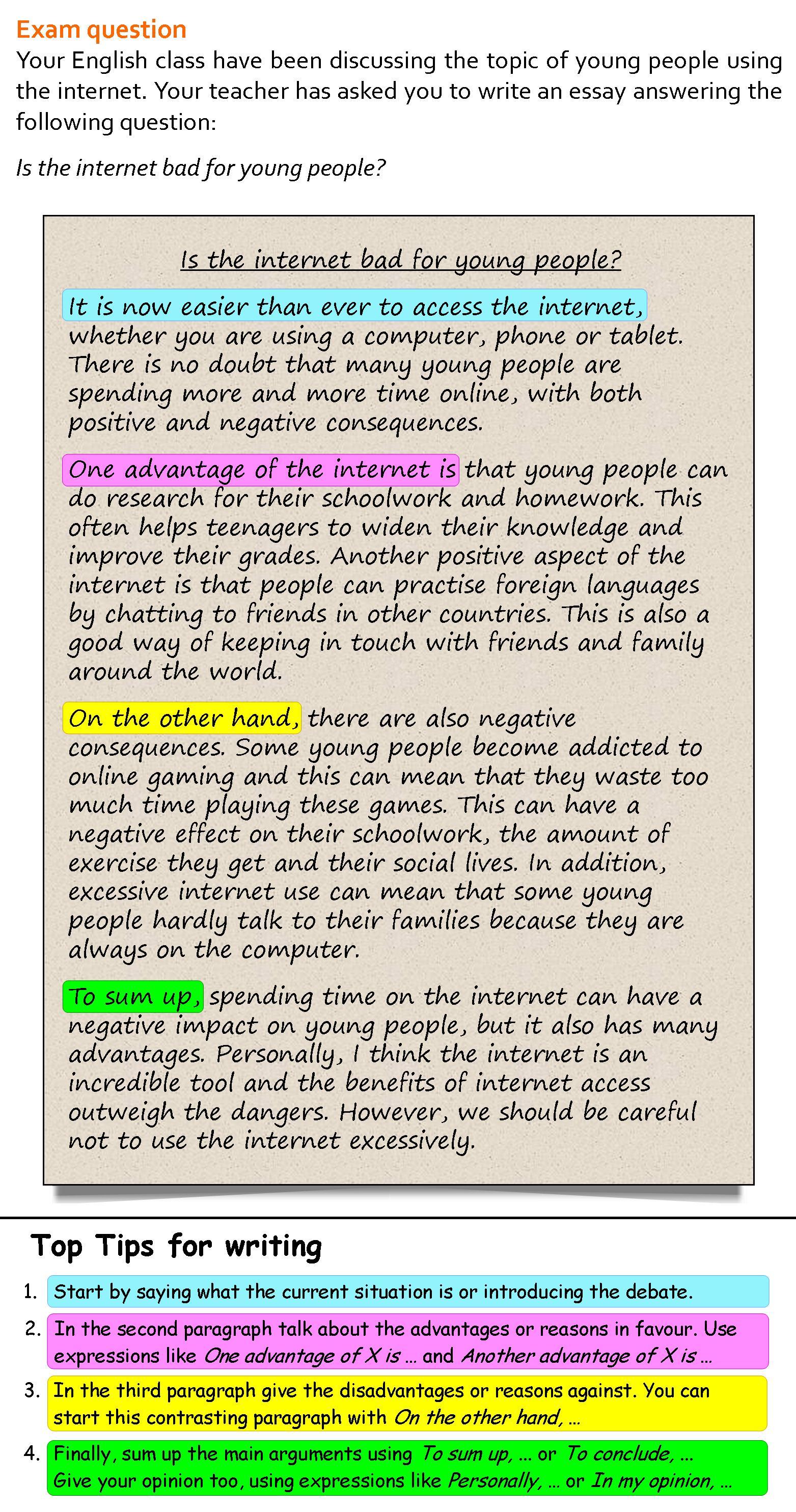 short essay example for kids