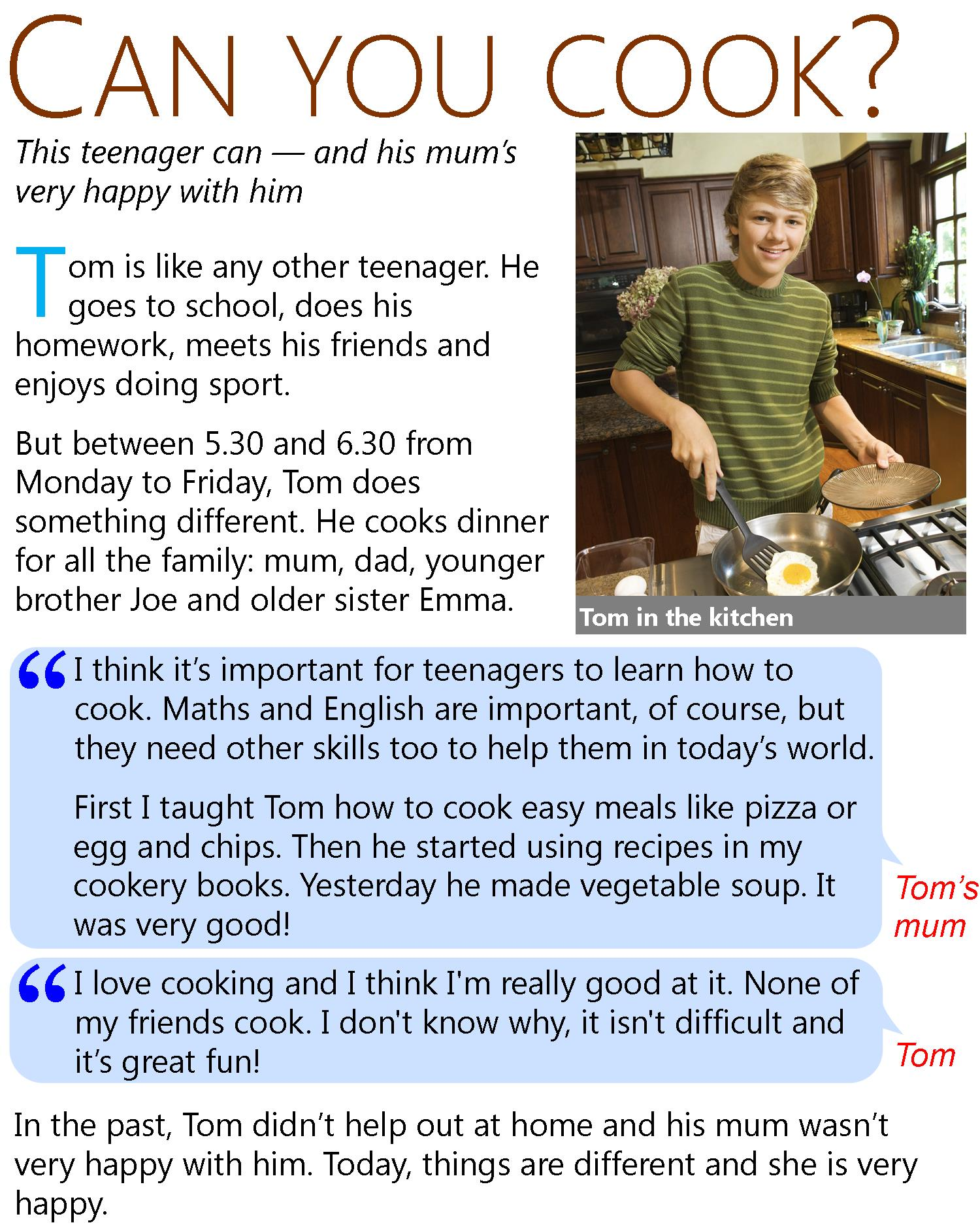 Can You Cook Learnenglish Teens British Council