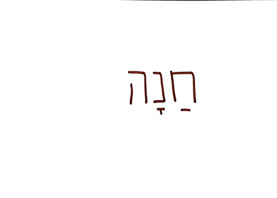 hannah in hebrew