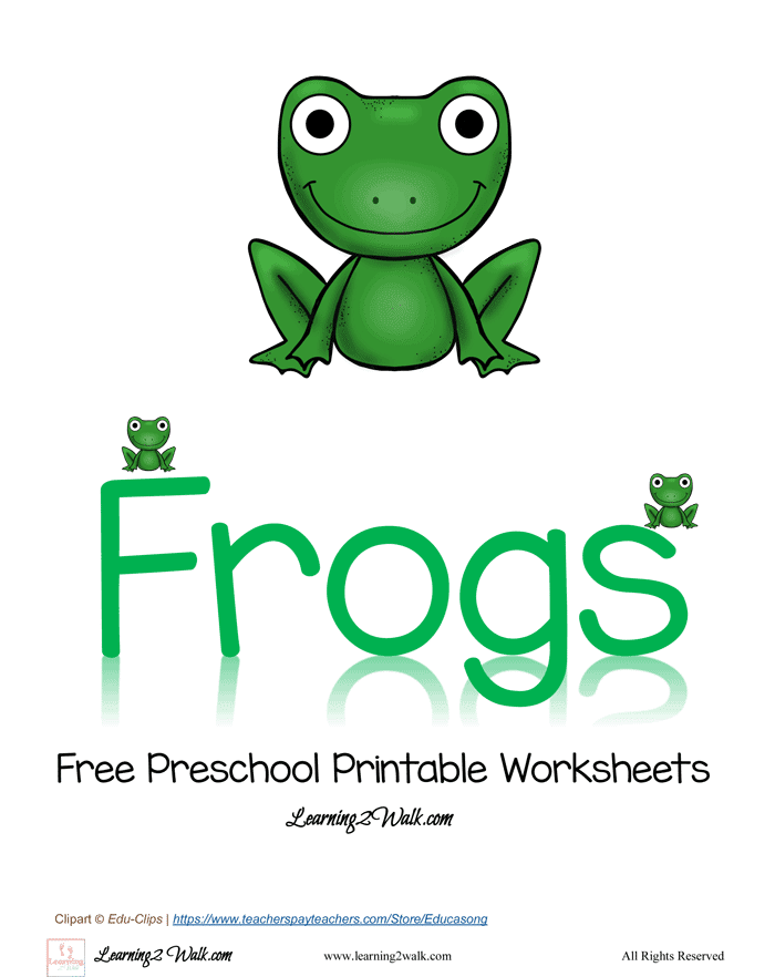 Free preschool printable worksheets frog for Frog crafts for preschoolers
