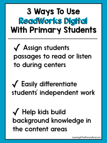 How To Use ReadWorks Digital To Create Engaging, Differentiated - Work Articles