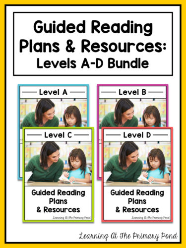 What are the components of a guided reading lesson in a Kindergarten - Guided Reading Lesson Plan Template