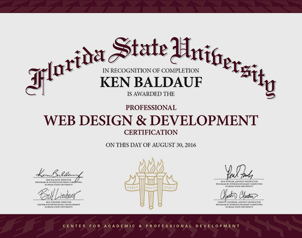 Web Design and Development Professional Certification Florida