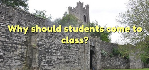 Why should students come to class?