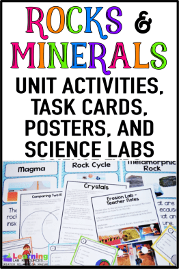 Let your students have fun learning about rocks and minerals with these engaging activities, task cards, posters, anchor charts, and science labs.