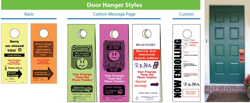 Door Hangers Learning Props